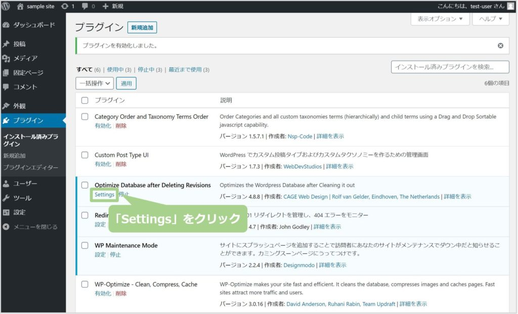 Optimize Database after Deleting Revisonの使い方
